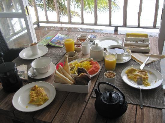 Glacis, Seszele: le petit-déjeuner