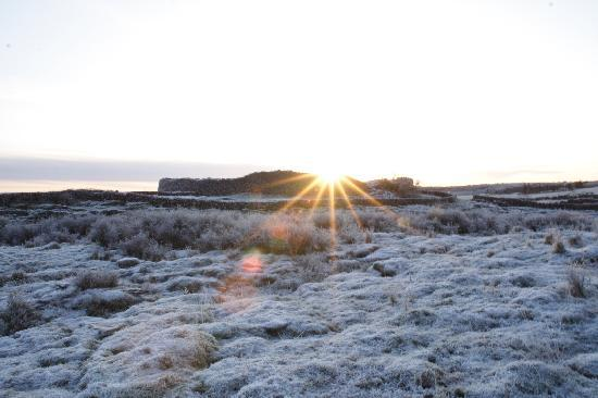 Caherconnell Stone Fort: Winter sunrise at Caherconnell