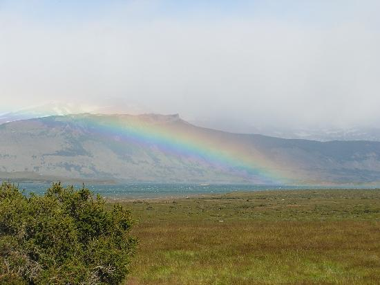 Weskar Patagonian Lodge: Rainbow over Last Hope Sound
