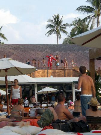 Nikki Beach Resort Koh Samui : arrivée du pere noel