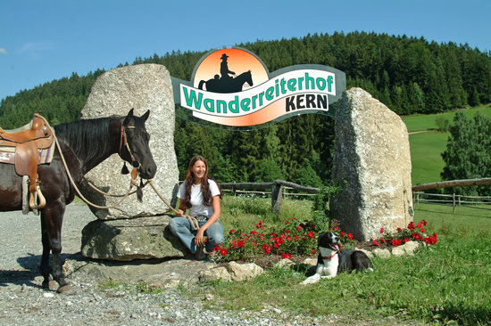 Wanderreithof Kern: Die Hofeinfahrt