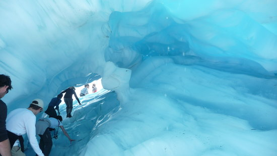 Fox Glacier Guiding: One of the ice caves