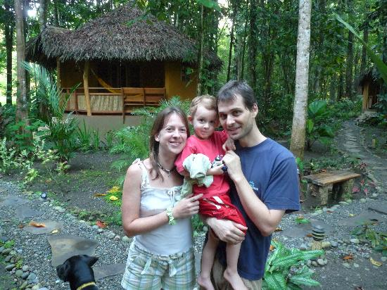 Korrigan Lodge: Ingrid and Erwan with their son
