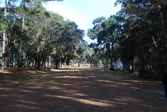 Fort McAllister State Park: Approaching the fort