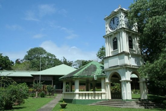Suva, Fiji: the museum and gazebo in the gardens