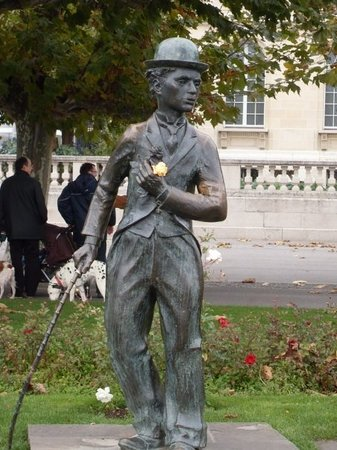 Charlie Chaplin Statue: Charlie Chaplin, at his most serious