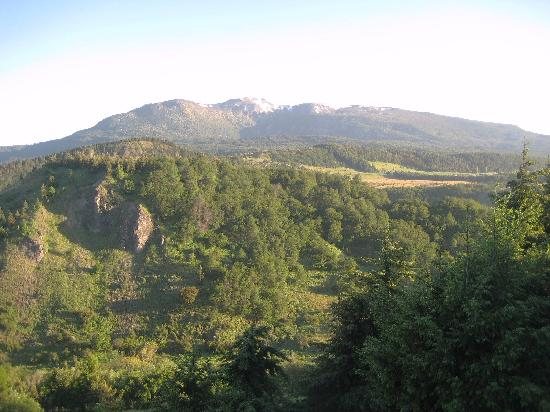 Coyhaique, Chile: Actual view from our large self contained room