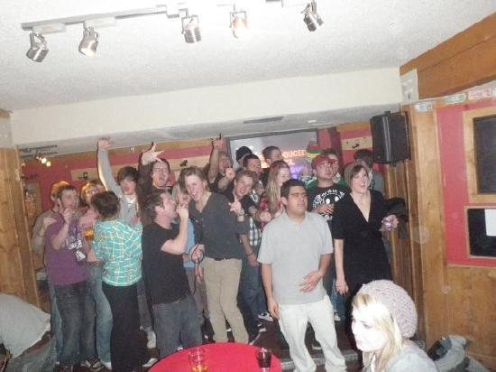 HI-Banff Alpine Centre: when all else fails lets just get together and sing a happy tune
