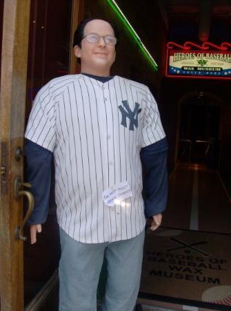 American Baseball Experience/ Heroes of Baseball Wax Museum: george costanza wax statue
