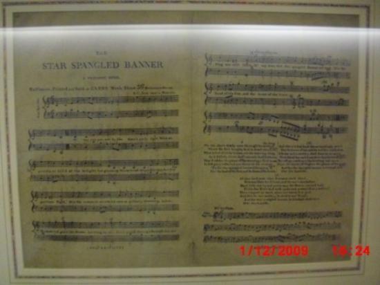 National Museum of American History: Las partituras originales del himno de los estados unidos