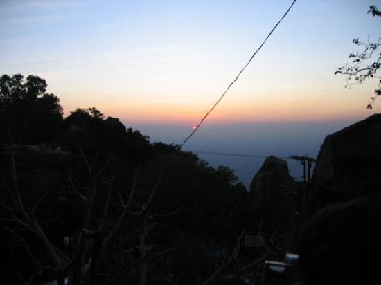Mount Abu, India: A view from SunsetPoint, Mt Abu (Time is 6.47 PM IST)
