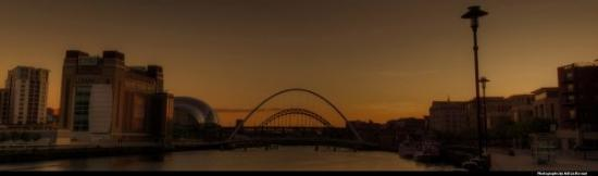 Gateshead Millenium Bridge: Gateshead Panoramic!
