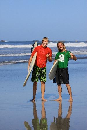 Nosara, Costa Rica: Owen (instructor) and me