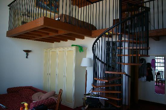 Hotel Marzia: oben der Schlafbereich