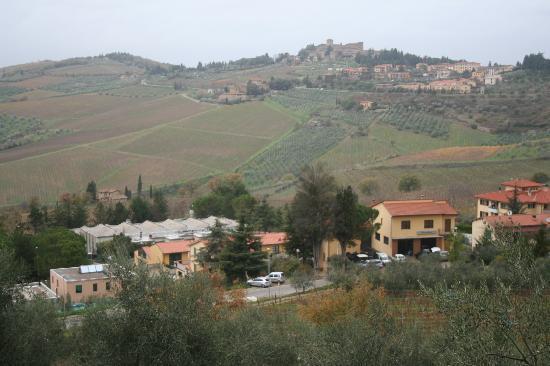 Villa Le Barone: view from front of Villa