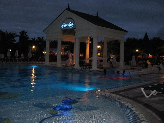 Riviera Pool at night