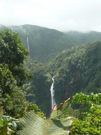 Parc National, Guadeloupe: Chutes du Carbet au pied de la Soufrière