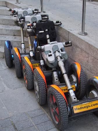 Madsegs: Our Segway parking lot outside the Cathedral...
