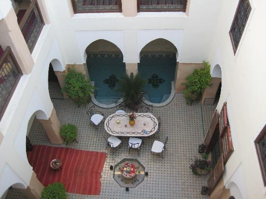 Riad Anabel: View into the Courtyard