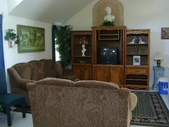 Zaballa House: Entertainment center
