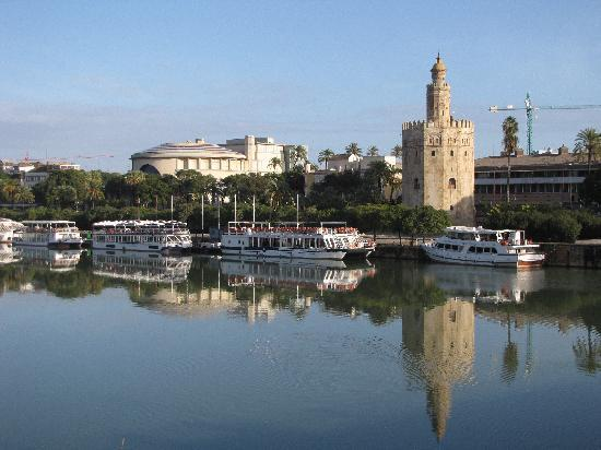 Triana : The view of Torre del Oro and the Bull Ring