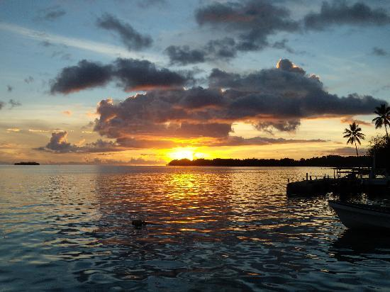 Munda, Solomon islands/Isole Salomone: Sunset at Agnes Lodge