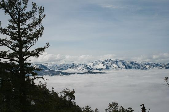 The Gondola at Heavenly: above the fog