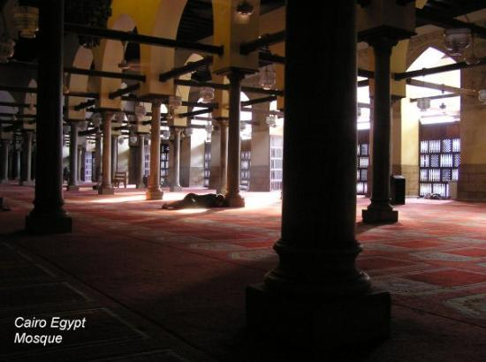 Mosque of Ibn Tulun: Cairo Egypt Mosque interior