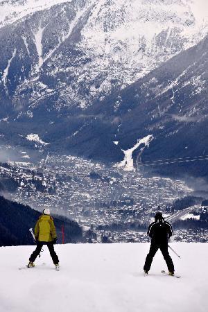 Hotel Liberty Mont Blanc: Bellevue dans la brume