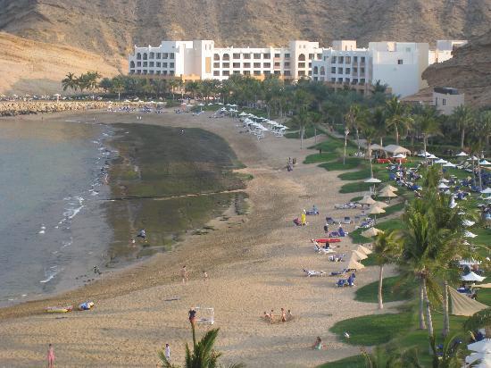 Shangri La Barr Al Jissah Resort & Spa-Al Husn : Tides out & the green muck left behind