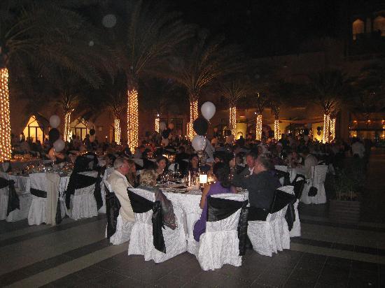 Shangri-La Al Husn Resort & Spa : Tables set for New Years dinner