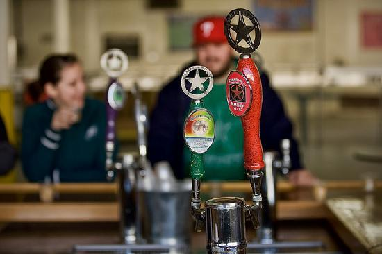 Starr Hill Brewery: A couple of the taps