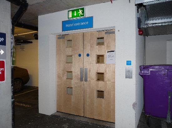 Travelodge Dublin Airport South Hotel Security door from car park & Reception area - Picture of Travelodge Dublin Airport South Hotel ...