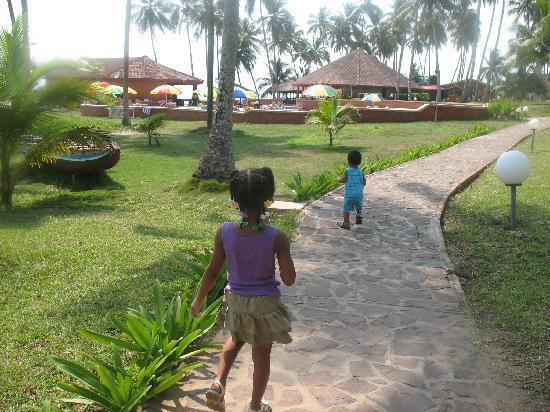 Coconut Grove Beach Resort: kids exploring the grounds