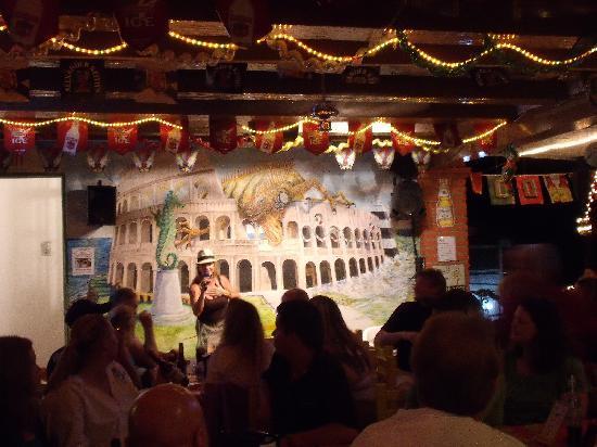 Inside Cafe Roma