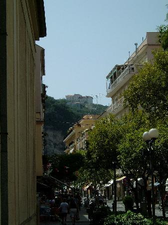 Grand Hotel Aminta: you can see hotel from centre of town, right on top of hill - there's a shuttle bus though!
