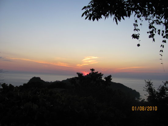Manuel Antonio Nationaal Park, Costa Rica: sunset at La Mariposa