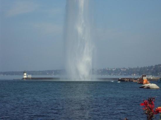 Lago de Ginebra: En el lago Lemán- Ginebra