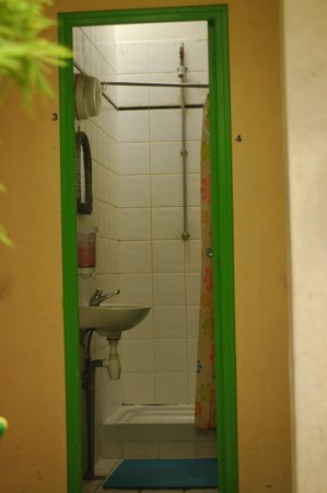 Woodstock Hostel: The downstairs shower