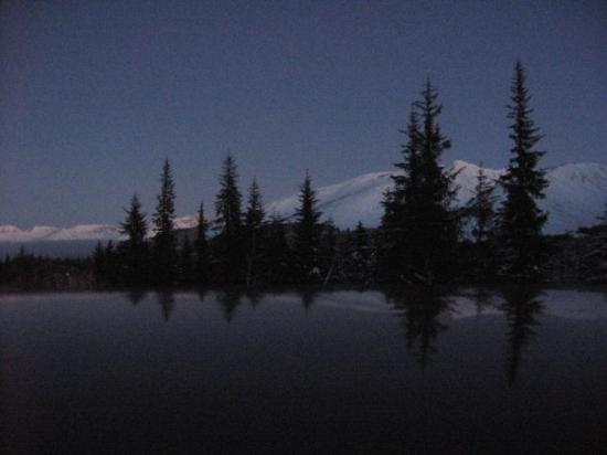 Alaska Mountains At Night Fotograf 237 A De Anchorage Alaska