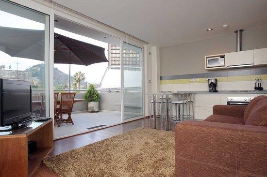 Lastarria 43/61: Duplex Apartment - Living Room & Terrace