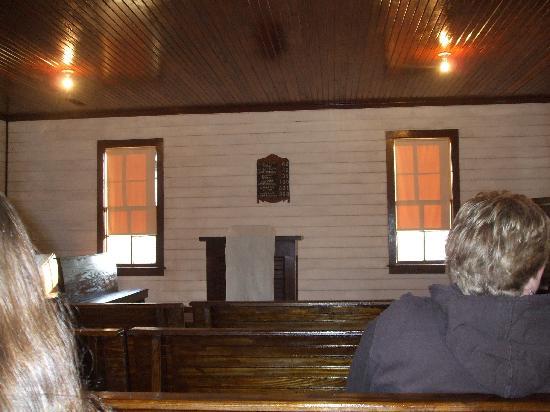 Elvis Presley Birthplace & Museum: Inside of Elvis church