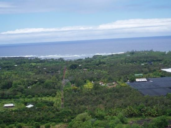 Pahoa, Hawaï: Kapoho Beach from crater rim Beautiful vista
