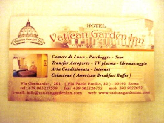 Vatican Garden Inn: Address et al