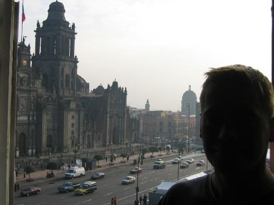 Best Western Hotel Majestic: On the balcony.  Great zocalo view of cathedral and palace.  This place would be nice after 100