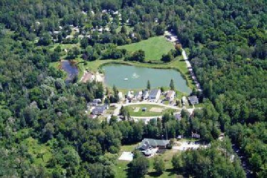 Bare Oaks Family Naturist Park: aerial view