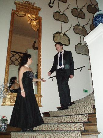 Chateau Mcely : Me with my wife on the stairs