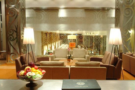 Lobby of Mamaison Hotel Andrassy Budapest