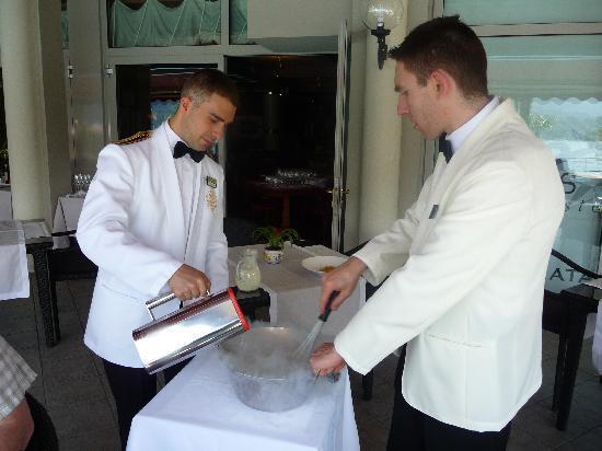 Grand Hotel Villa Serbelloni: Ice cream making