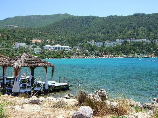 Torba, Turkey: view of hotel from island